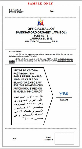 FileBOL ballot sample ARMM except Basilanjpg - Wikimedia Commons