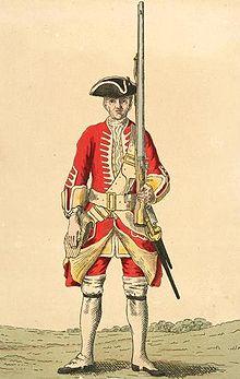 20th regiment soldier, 1742