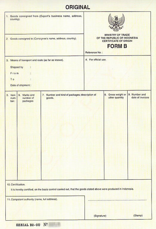 FileForm B for international tradejpg - Wikimedia Commons - Certificate Of Origin Forms