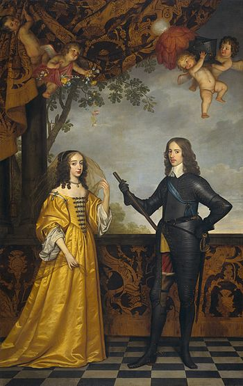Willem II, prince of Orange, and his wife Mari...