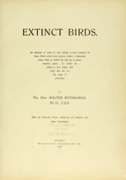 English: Extinct Birds is a book by Walter Rot...