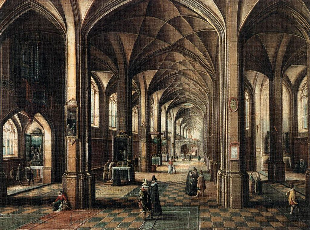 Schilderij Interieur Kerk File:hendrick Van Steenwyck (ii) - Interior Of A Church