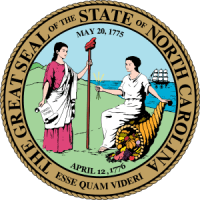English: State seal of North Carolina