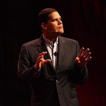 English: Reggie Fils-Aime at the Game Develope...