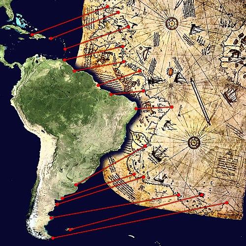 Pîrî Reis Haritası - Wikiwand - amerika haritasi