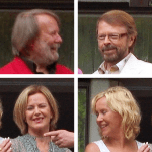 The members of ABBA in 2008