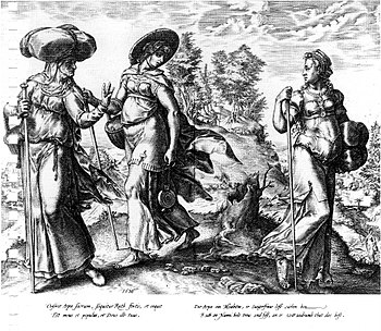 English: Hendrick Goltzius. Orpah leaving Ruth...