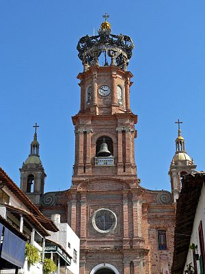 English: Puerto Vallarta cathedral, Jalisco, M...