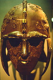 The parade helmet found at Sutton Hoo, probabl...