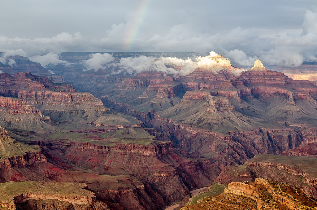 Grand Canyon Hopi Point with rainbow 2013