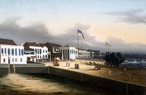 View of Foreign Factories, Canton, 1825–1835