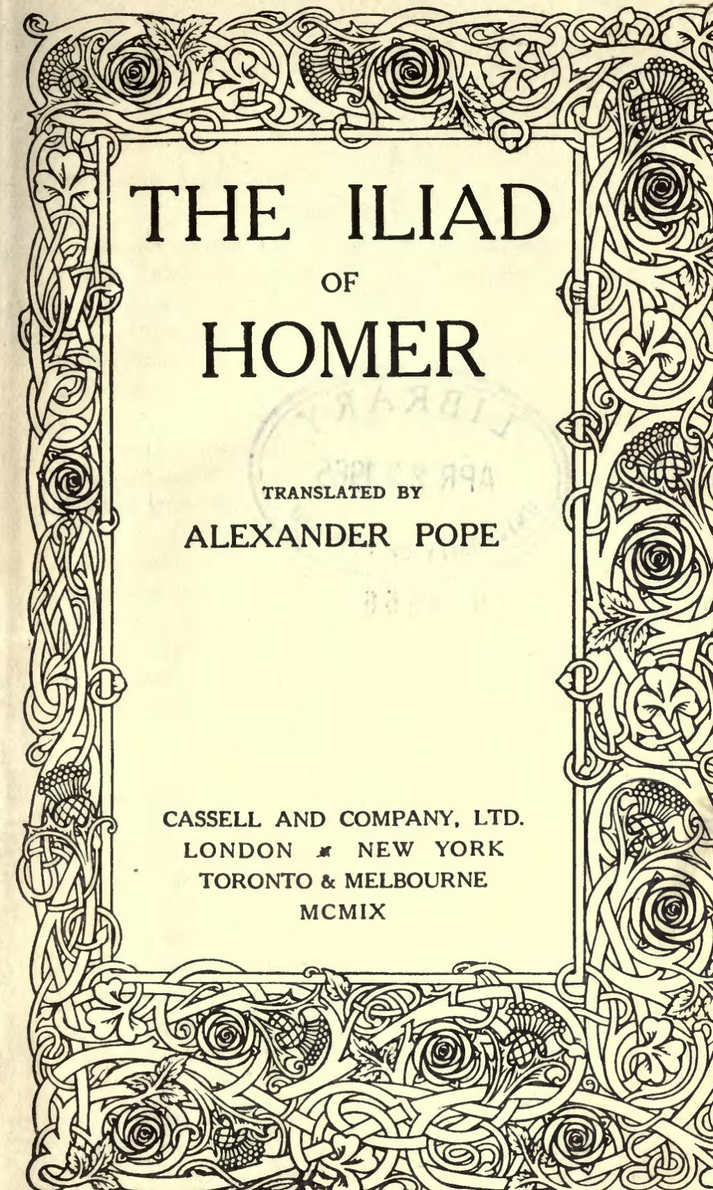Iliad Homer Page Homer Iliad Translation Pope 1909 Djvu 9 Wikisource