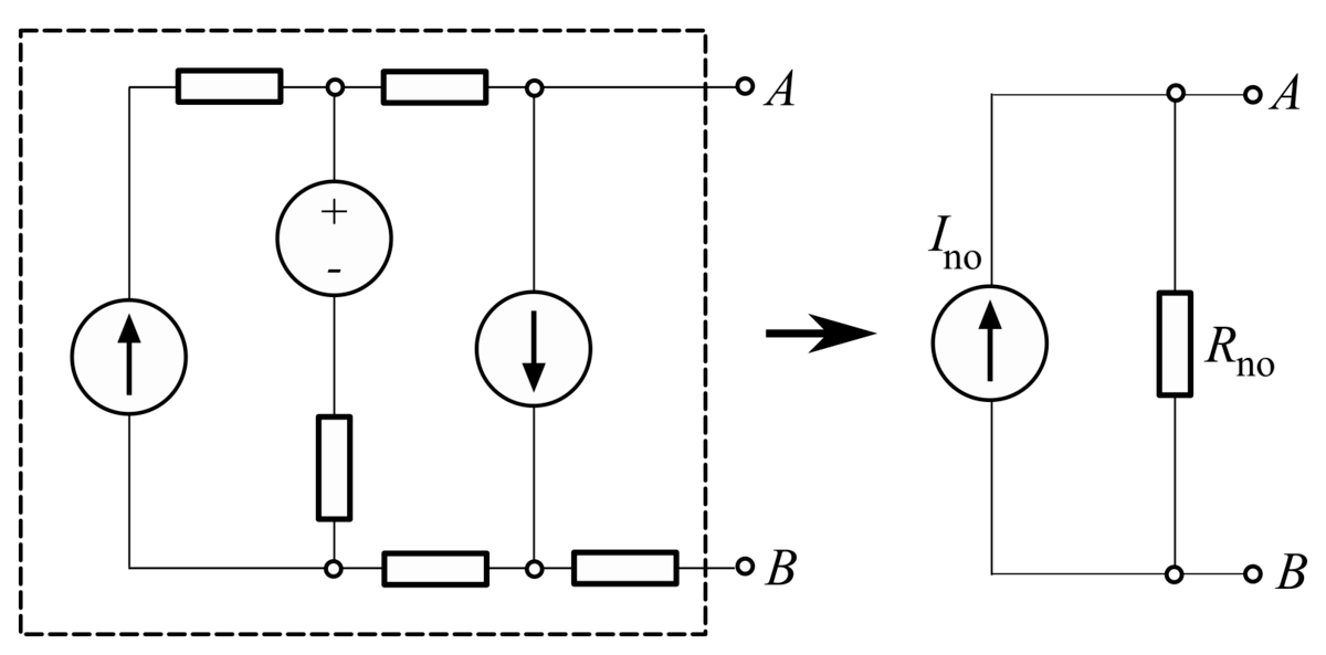 ac thevenin equivalent circuit with current and voltage source