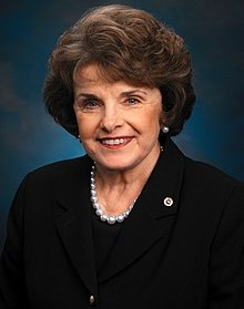 Dianne Feinstein photo with pearls and black suit