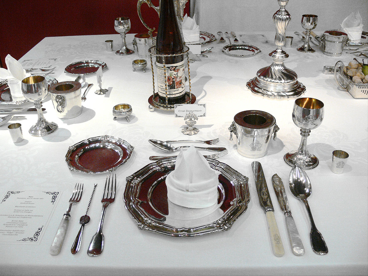 Tischgedeck Clipart Table Setting Wikipedia
