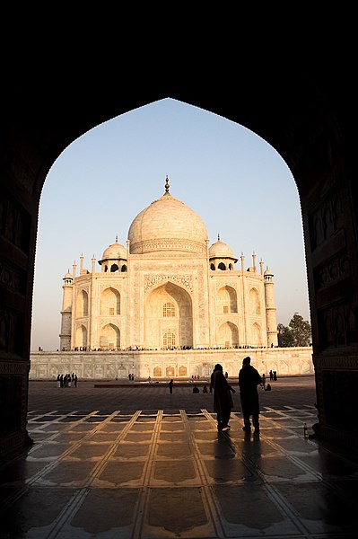 Taj Mahal Hd Wallpaper File Taj Mahal At Sunrise Agra Jpg Wikipedia