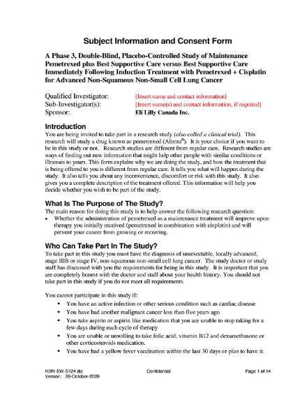Informed consent - Wikiwand - research consent form template