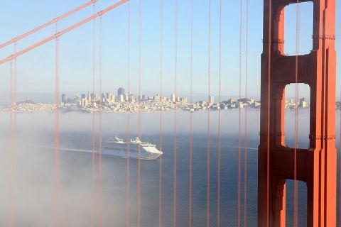 Cruise Ship in San Francisco, the #1 Gay City in America. Photo courtesy Mila Zinkova, Wikimedia Commons