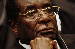 Original caption: President of Zimbabwe Robert...