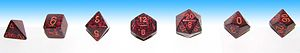 Full set of matching dice used in role-playing...