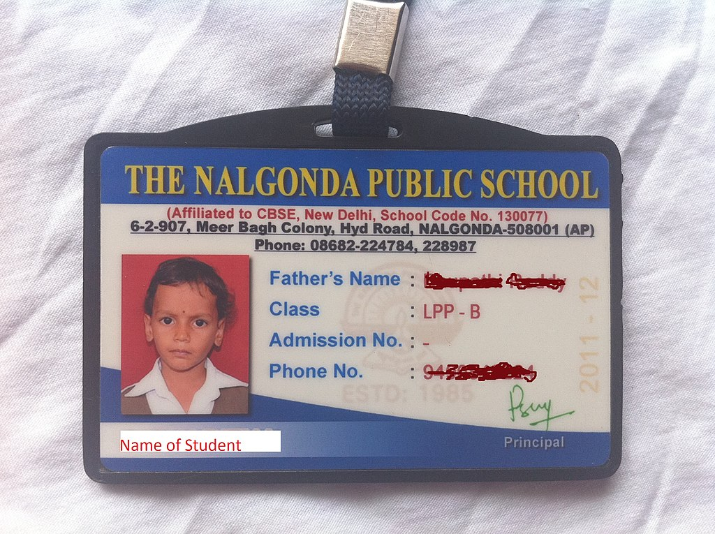 school identification card - Pinarkubkireklamowe