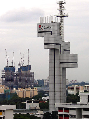 The SingTel Ayer Rajah Telecommunications Towe...