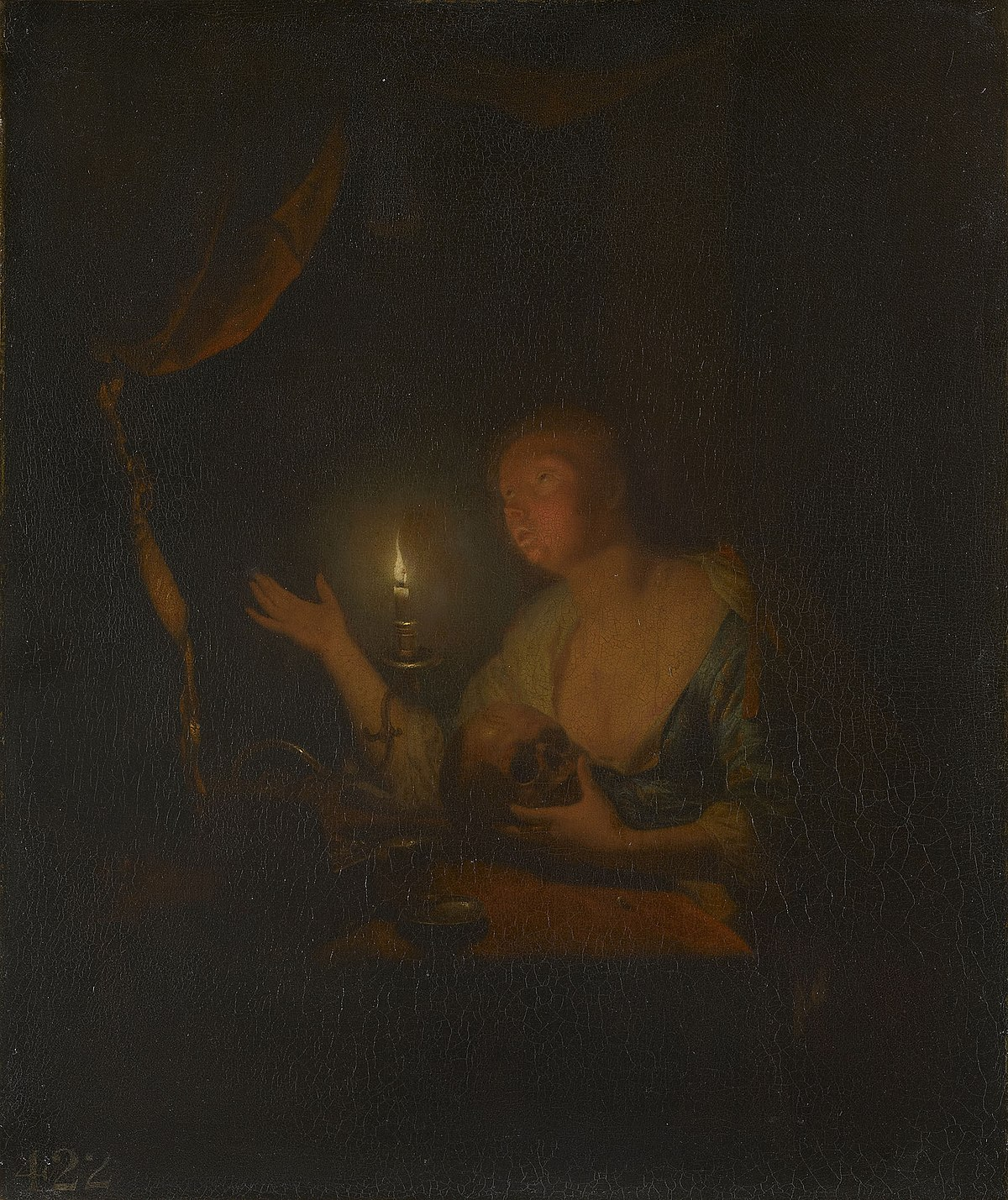Candle Light Painting The Penitent Magdalen By Candlelight Wikidata