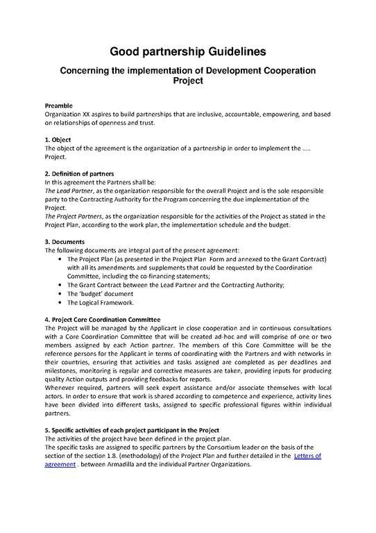 FilePartnership Agreement Guidelinespdf - Wikimedia Commons - partenership agreement