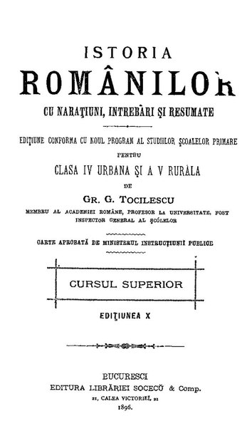 FileGrigore G Tocilescu - Istoria romanilor cu narațiuni