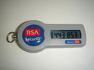 An RSA SecurID SID800 token without USB connector
