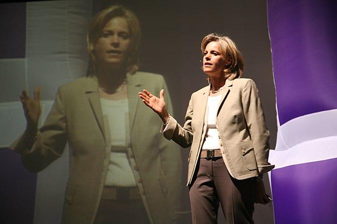 American businesswoman Susan Decker, president...