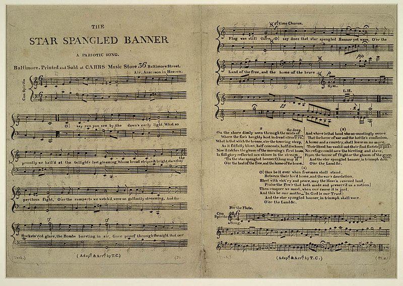 Store Banne Wiki File:the Star-spangled Banner.jpg - Wikimedia Commons