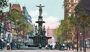 Fountain Square and Tyler-Davidson Fountain, C...