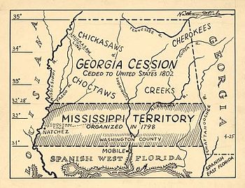 Map showing the land of the Georgia cession, I...
