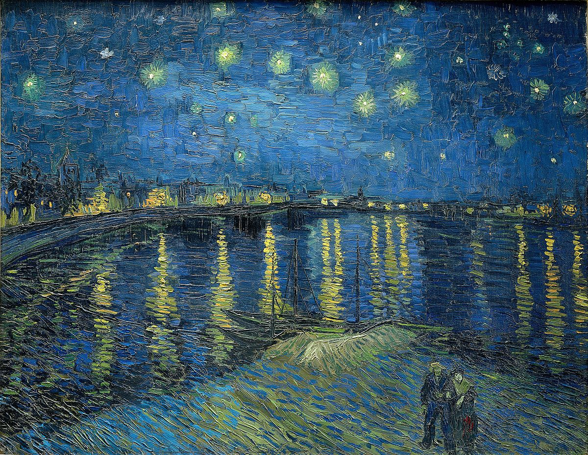Vang Gogh Cuadros Starry Night Over The Rhône Wikipedia