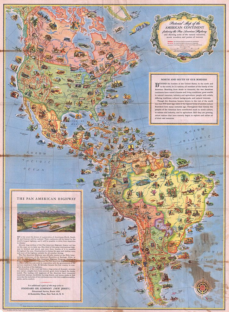 File1930 Pictorial Map of North America and South America