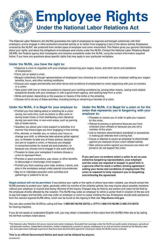 FileEmployee Rights Notice NLRBjpg - Wikimedia Commons