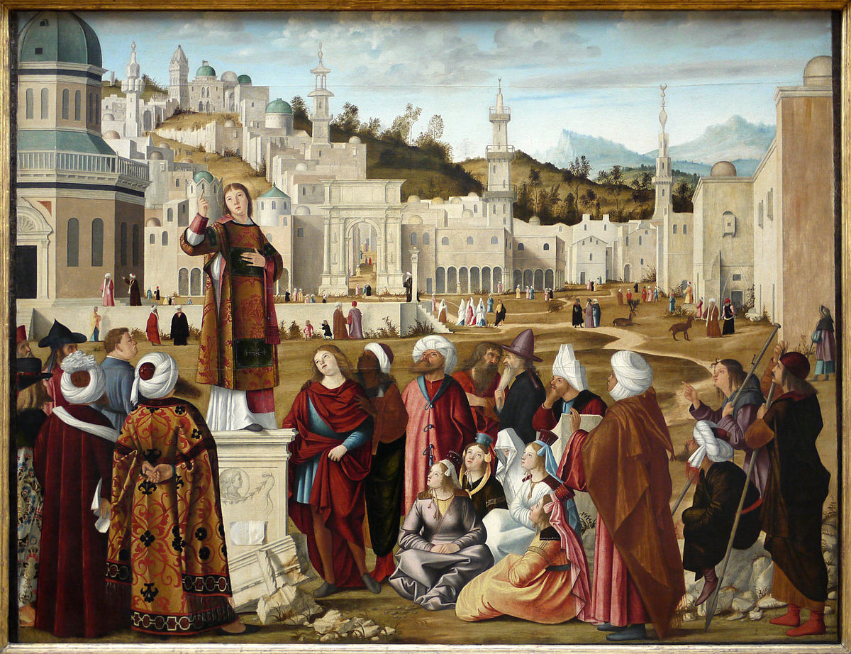 Ancienne Collection Saint James The Sermon Of St Stephen Carpaccio Wikipedia