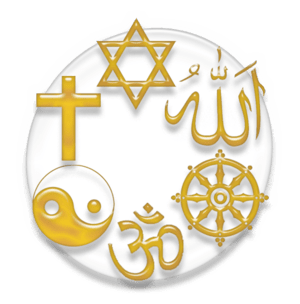 Symbol of the major religions of the world: Ju...