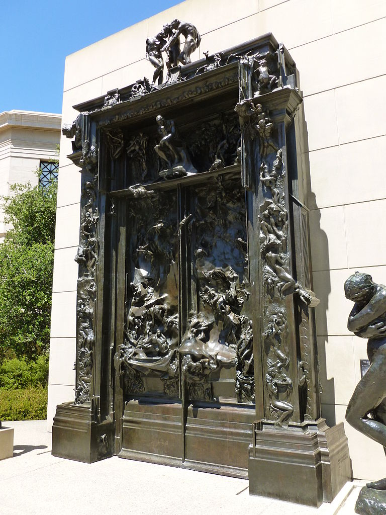 Free Wallpaper Fall Scenes File Gates Of Hell Sculpture By Rodin Angled View From