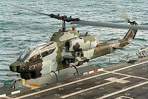 Marine AH-1 SuperCobra type of aircraft flown ...