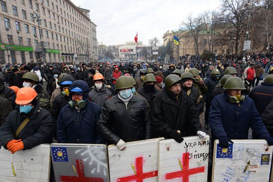 Protesters Gather in Ukraine, January 2014