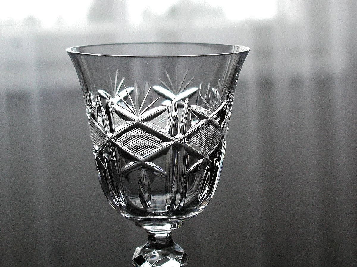 High End Crystal Wine Glasses Lead Glass Wikipedia