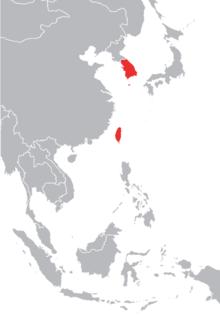 Bốn con hổ châu Á , bao gồm Hàn Quốc và Đài Loan (màu đỏ)