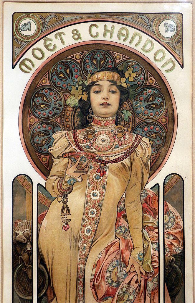 Wallpaper Images Hd Flowers File Alfons Mucha Mo 235 T Et Chandon 1899 Richard Fuxa