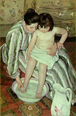 Mary Cassatt (1844–1926), The Bath Oil on canv...