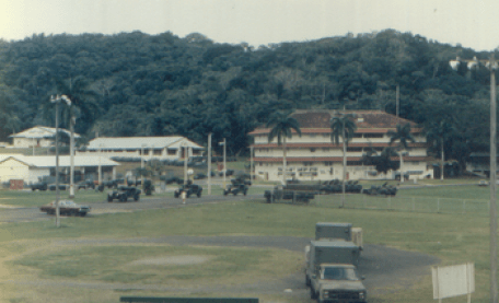 English: Fort Clayton, Panama, showing the 534...