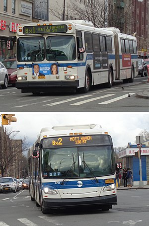 Bx1 and Bx2 buses