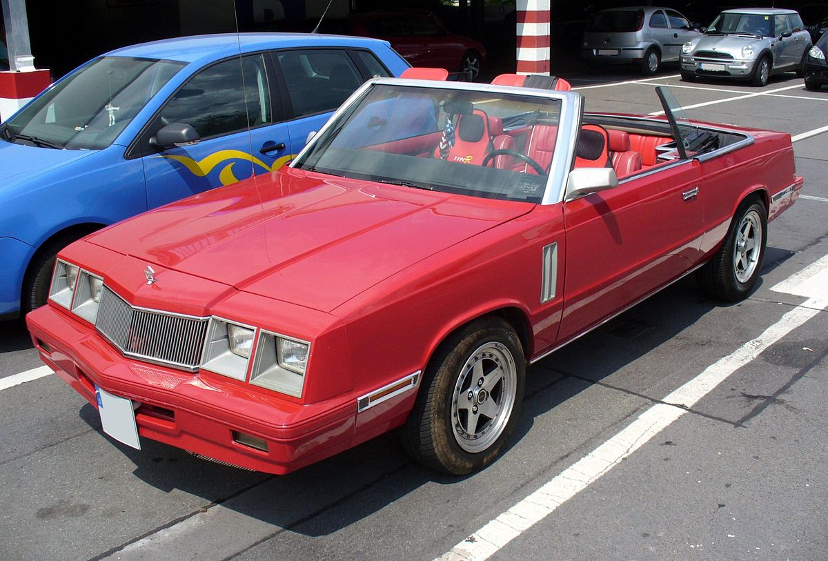 Les Tabourets De Lord Blotton Chrysler Lebaron Wikipedia