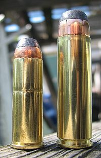 ... of the popular .44 Magnum (left) to the .500 S&W cartridge (right